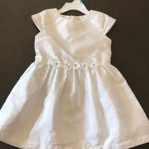 Carters 3t white linen look party dress